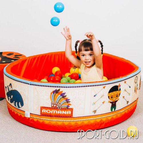 Сухой бассейн с шариками ROMANA Индейцы 100 шариков Фото 1