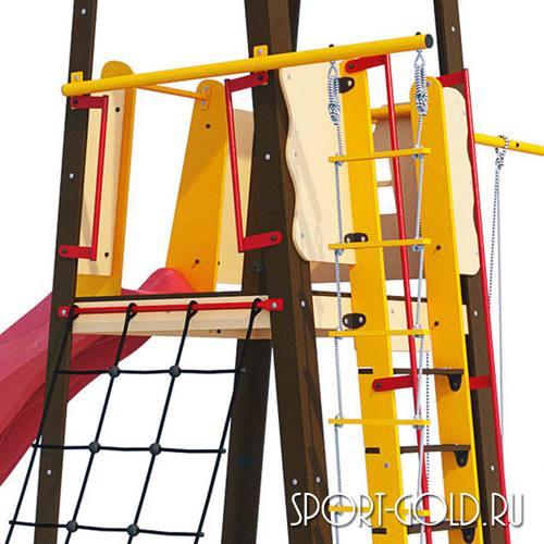 Детский спортивный комплекс для дачи ROMANA Избушка Фото 2