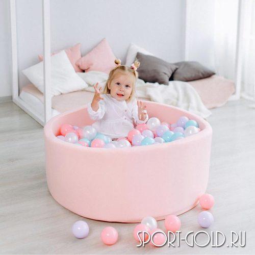 Сухой бассейн с шариками ROMANA Airpool розовый, бирюзовый Фото 2