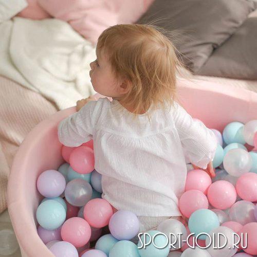 Сухой бассейн с шариками ROMANA Airpool розовый, бирюзовый Фото 3