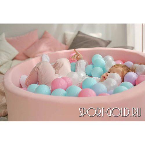 Сухой бассейн с шариками ROMANA Airpool розовый, бирюзовый Фото 4