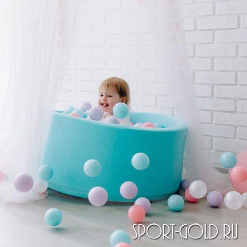 Сухой бассейн с шариками ROMANA Airpool розовый, бирюзовый Фото 5