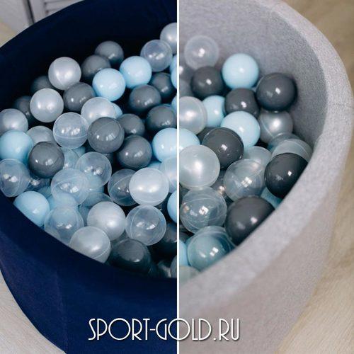Сухой бассейн с шариками ROMANA Airpool синий, серый Фото 1
