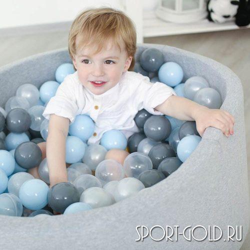 Сухой бассейн с шариками ROMANA Airpool синий, серый Фото 2