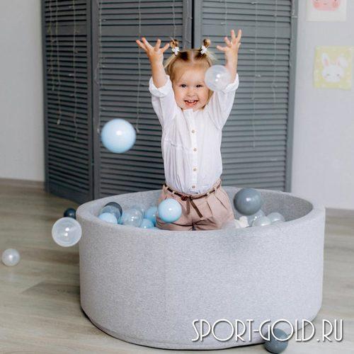 Сухой бассейн с шариками ROMANA Airpool синий, серый Фото 3