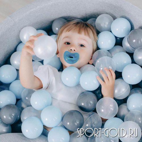 Сухой бассейн с шариками ROMANA Airpool синий, серый Фото 4