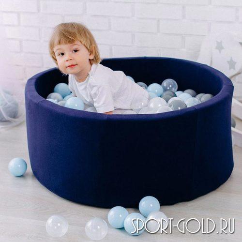 Сухой бассейн с шариками ROMANA Airpool синий, серый Фото 5