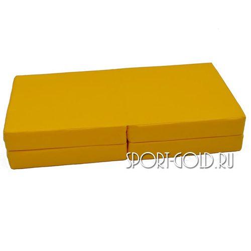 Спортивный мат АССОРТИ №11, 100х100х10 см, складной, 4 секции Фото 2