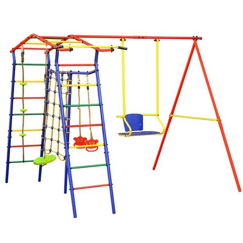 Детский спортивный комплекс для дачи КМС Игромания-1 Скалолаз Фото 1