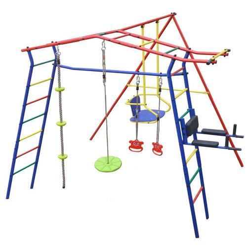 Детский спортивный комплекс для дачи КМС Игромания-3 Пресс Фото 2