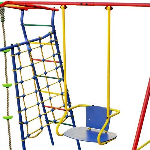 Детский спортивный комплекс для дачи КМС Игромания-5 Фитнесс с горкой Фото 1
