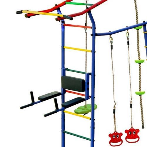 Детский спортивный комплекс для дачи КМС Игромания-5 Фитнесс с горкой Фото 2