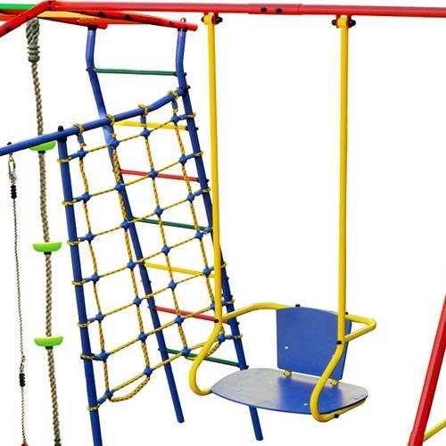 Детский спортивный комплекс для дачи КМС Игромания-1 Скалолаз с горкой Фото 1