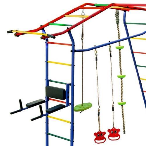 Детский спортивный комплекс для дачи КМС Игромания-3 Пресс с горкой Фото 1
