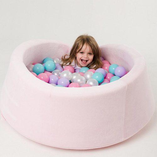 Сухой бассейн с шариками ROMANA Airpool MAX розовый, голубой, серый Фото 2