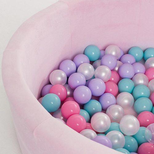 Сухой бассейн с шариками ROMANA Airpool MAX розовый, голубой, серый Фото 3