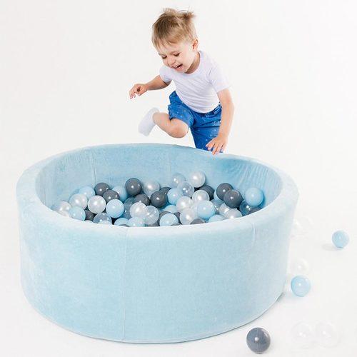 Сухой бассейн с шариками ROMANA Airpool MAX розовый, голубой, серый Фото 4