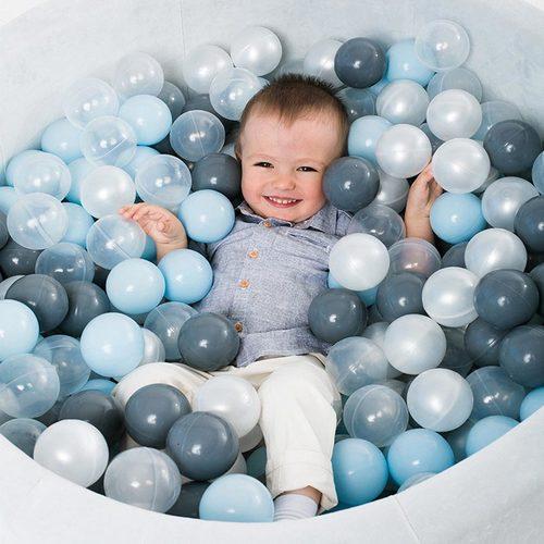 Сухой бассейн с шариками ROMANA Airpool MAX розовый, голубой, серый Фото 6