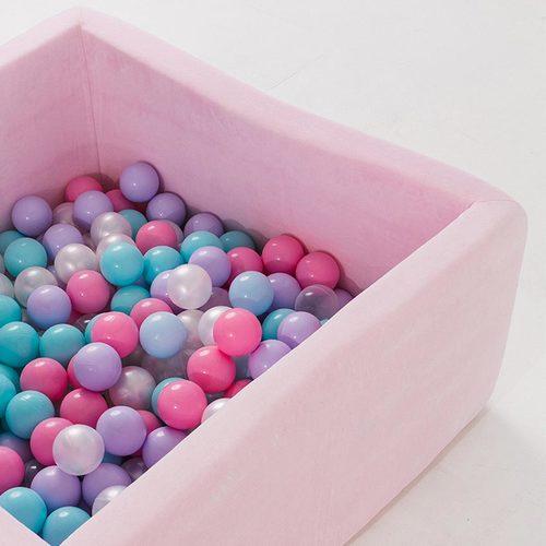 Сухой бассейн с шариками ROMANA Airpool BOX розовый, голубой, серый Фото 1