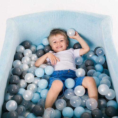 Сухой бассейн с шариками ROMANA Airpool BOX розовый, голубой, серый Фото 3