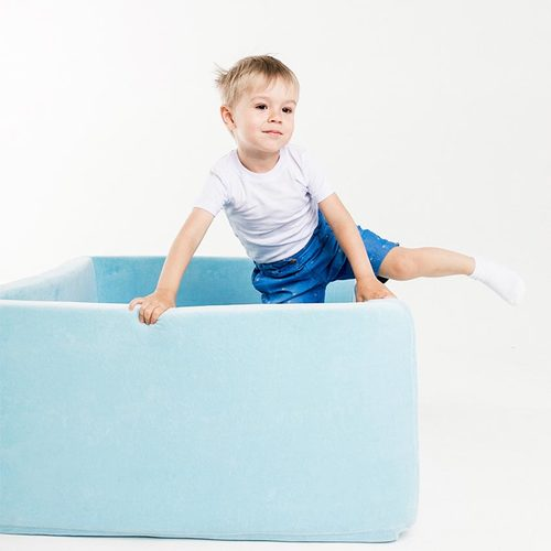 Сухой бассейн с шариками ROMANA Airpool BOX розовый, голубой, серый Фото 5