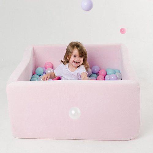 Сухой бассейн с шариками ROMANA Airpool BOX розовый, голубой, серый Фото 6