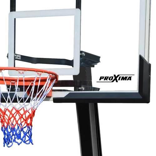 """Баскетбольная стойка PROXIMA 54"""", стекло, S027 Фото 1"""