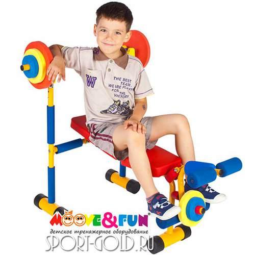 Детский силовой тренажер Moove&Fun Скамья под штангу SH-06 Фото 2