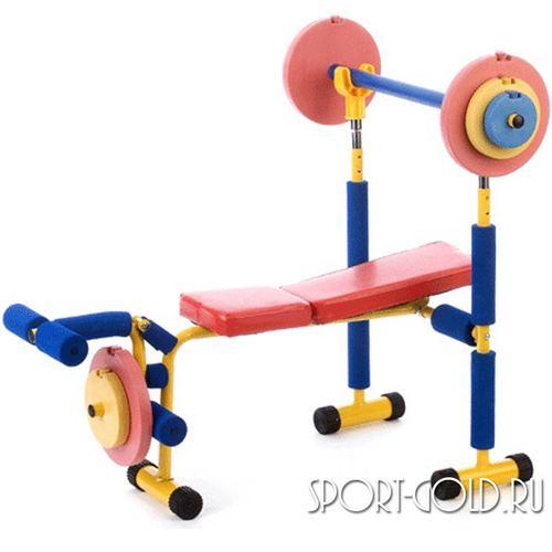 Детский силовой тренажер Baby Gym Скамья под штангу LEM-KWB-001