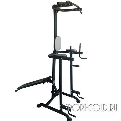 Силовой тренажер DFC Multi Power Basic Trainer, Турник-пресс-брусья со скамьей