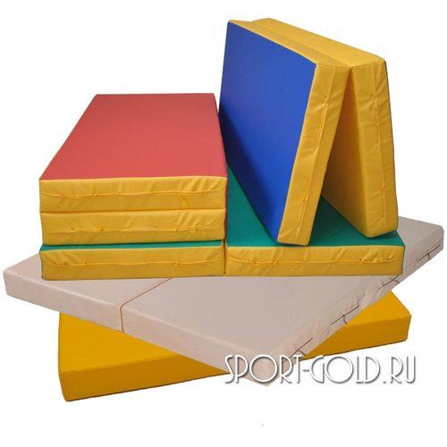 Спортивный мат АССОРТИ №3, 100х100х10 см, складной, 2 секции