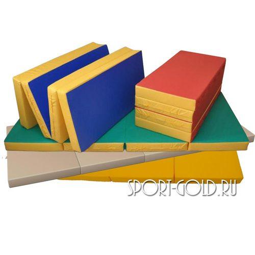 Спортивный мат АССОРТИ №5, 200х100х10 см, складной, 4 секции