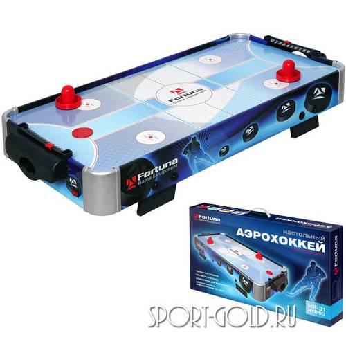 Настольный аэрохоккей Fortuna Blue Ice Hybrid HR-31