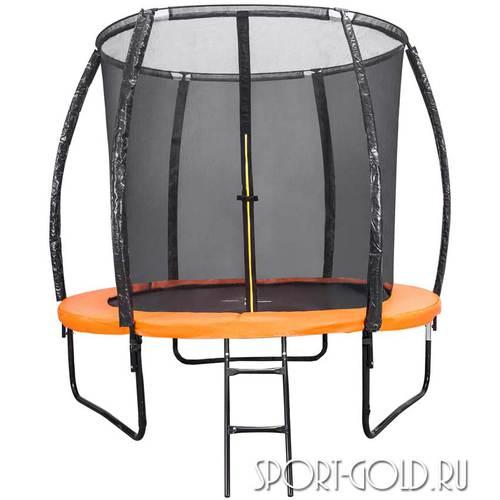 Батут DFC Trampoline Kengoo 8FT-TR-E-BAS с сеткой и лестницей