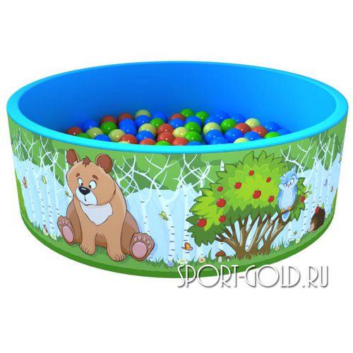 Сухой бассейн с шариками ROMANA Зверята 100 шариков