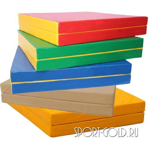 Спортивный мат АССОРТИ №8, 200х100х10 см, складной, 2 секции