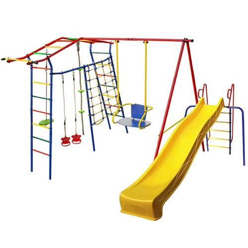 Детский спортивный комплекс для дачи КМС Игромания-1 Скалолаз с горкой