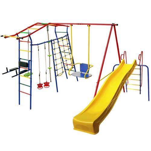 Детский спортивный комплекс для дачи КМС Игромания-5 Фитнесс с горкой