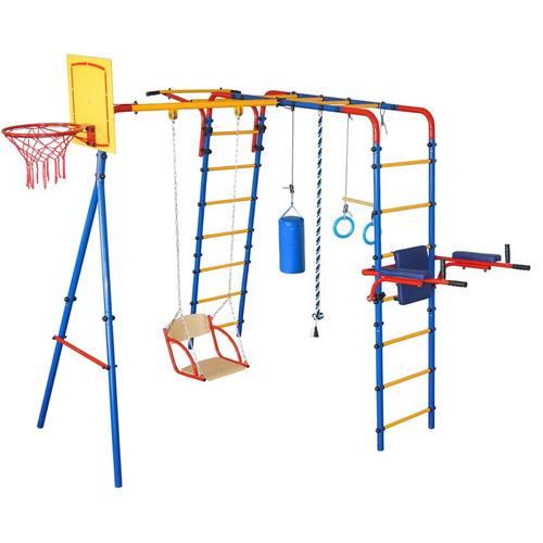 Детский спортивный комплекс для дачи ЮНЫЙ АТЛЕТ Уличный Плюс
