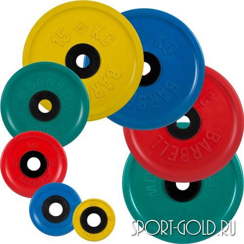 Диски для штанги MB Barbell Евро-классик олимпийские цветные