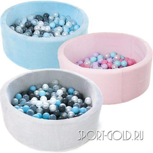 Сухой бассейн с шариками ROMANA Airpool MAX розовый, голубой, серый
