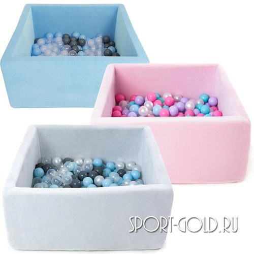 Сухой бассейн с шариками ROMANA Airpool BOX розовый, голубой, серый