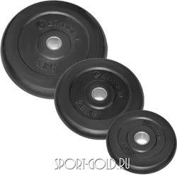 Диски для штанги Larsen NT121, 26 мм, черные обрезиненные