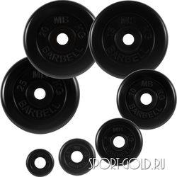 Диски для штанги MB Barbell Стандарт 51 мм, черные обрезиненные