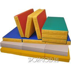 Спортивный мат АССОРТИ №4, 150х100х10 см, складной, 3 секции
