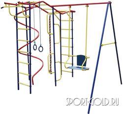 Детский спортивный комплекс для дачи ПИОНЕР Вираж со спиралью