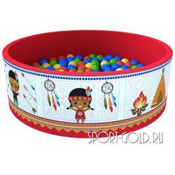 Сухой бассейн с шариками ROMANA Индейцы 100 шариков