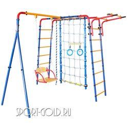 Детский спортивный комплекс для дачи ЮНЫЙ АТЛЕТ Уличный с сеткой
