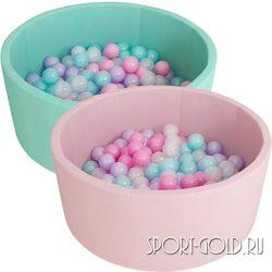 Сухой бассейн с шариками ROMANA Airpool розовый, бирюзовый