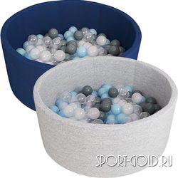 Сухой бассейн с шариками ROMANA Airpool синий, серый